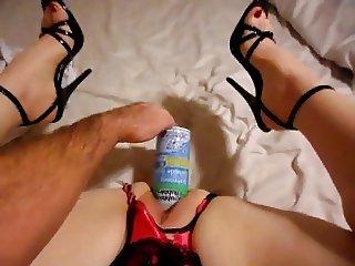 Wife fucking huge dildo 3