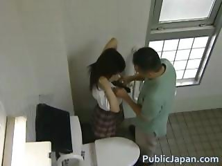 Asian model has hot public sex part6