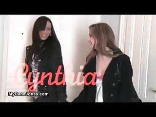 Hot brunette lesbians get horny making part4