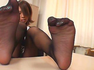 Black Pantyhose Tease 1