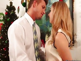 Lexi Belle gives boss a hot fuck for xmas