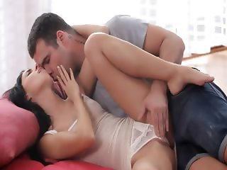 Ultra charming brunette licking my balls