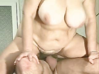 BBW granny fucking flopping jiggling tits and belly