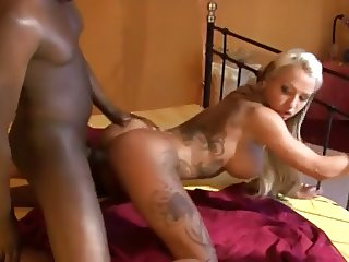 Impressive Body Blonde fucks the Black guy
