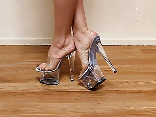 Sexy feet clear plattform Sexys tacones