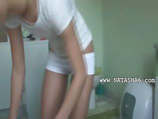 slovak Natasha at water closet