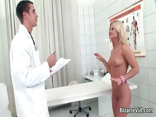 Hot blonde bitch comes to the doctor part3