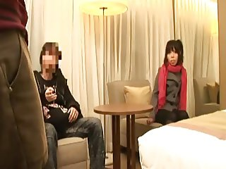 japanese girl is fucked in front of his boyfriend