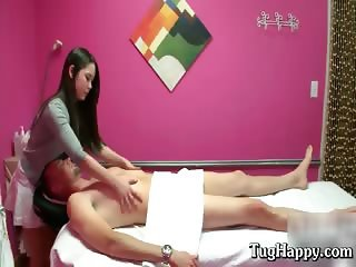 Dark long haired asian girl give dude part1