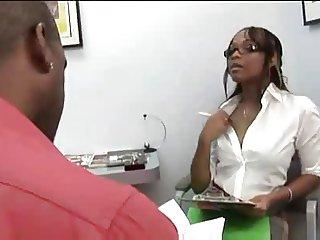Ebony Milf fuck in Office