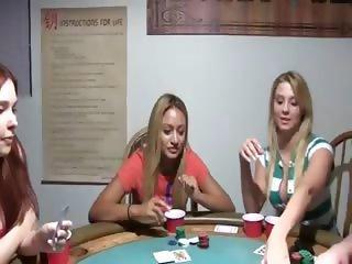 Young chicks fucking on poker night