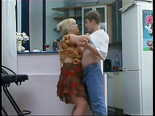 Lustful old russian blonde fucked by young guy compilftion