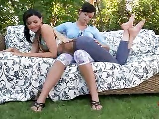 hot lesbian kissing feet