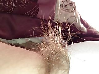 i just love playing with her long pubic hair.