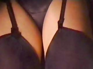 Wool Miniskirt Black Pantie Upskirt