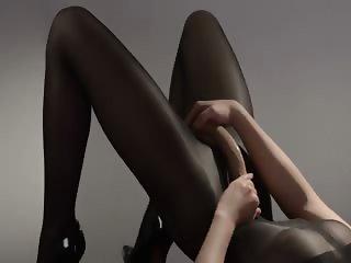 Hot princess in pantyhose teasing