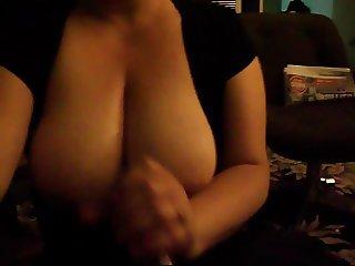 Huge Tit 039 s Smothered Handjob
