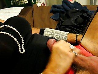 Crossdresser has a super orgasm