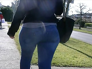 Candid big booty jeans