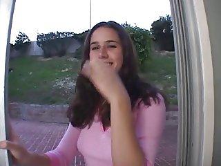 Beautiful Kacey gets 6 facials