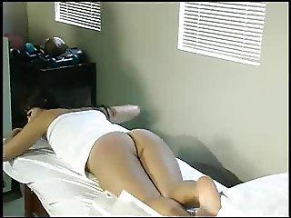 Aunt Gwen spanks Kara in medical office 6