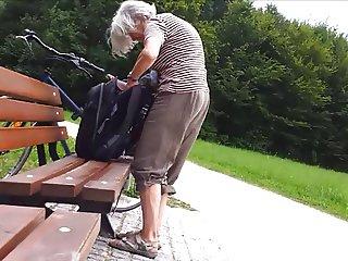 Granny in the park