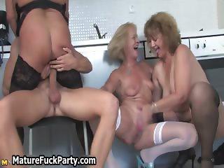Nasty old sluts going crazy having group part3