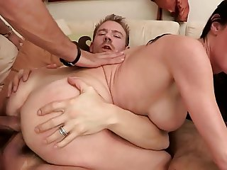 2 Studs Fucking His Wife Double Vaginally Anally FYFF