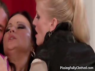 Two hot Euro girls enjoy getting fucked part2