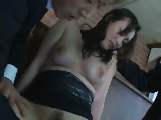 Unique Japanese bitch masturbated