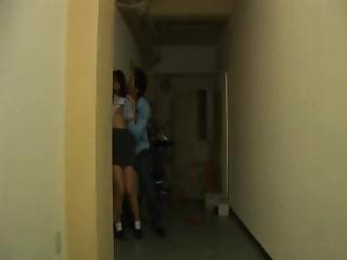 Teen asian girl giving blowjob