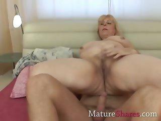 Chubby blonde mature