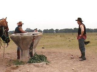 Horny cowboys take a ride