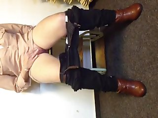 German Chick Squirts brutal on a Bench
