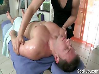 Dude gets massaged and toy fucked part4