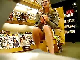 Naughty girl showing her panties in public while bf videos