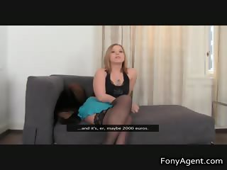 Blonde mom in stockings is horny part4