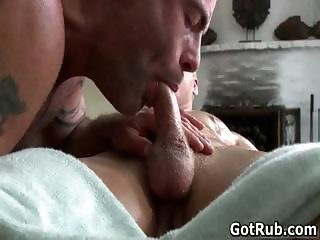 Dude with perfect body gets gay rubbing part4
