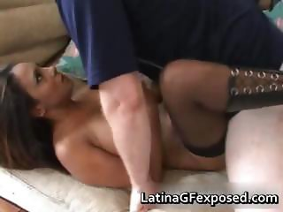 Latina chick on a warm blowjob part6