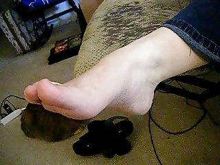 My BBW wifes sexy foot
