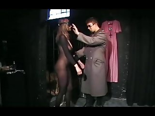 German woman gets fucked in a bodystocking