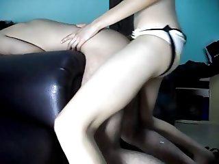 Skinny Girl Pegs a Guy