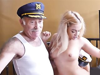 Old man took viagra pills and back-scuttled a young slut