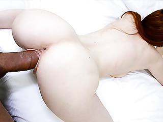 19 year old Abbey Rain sucking and fucking big fat cocks on the internet for cash
