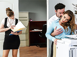Busty secretary penetrated at work